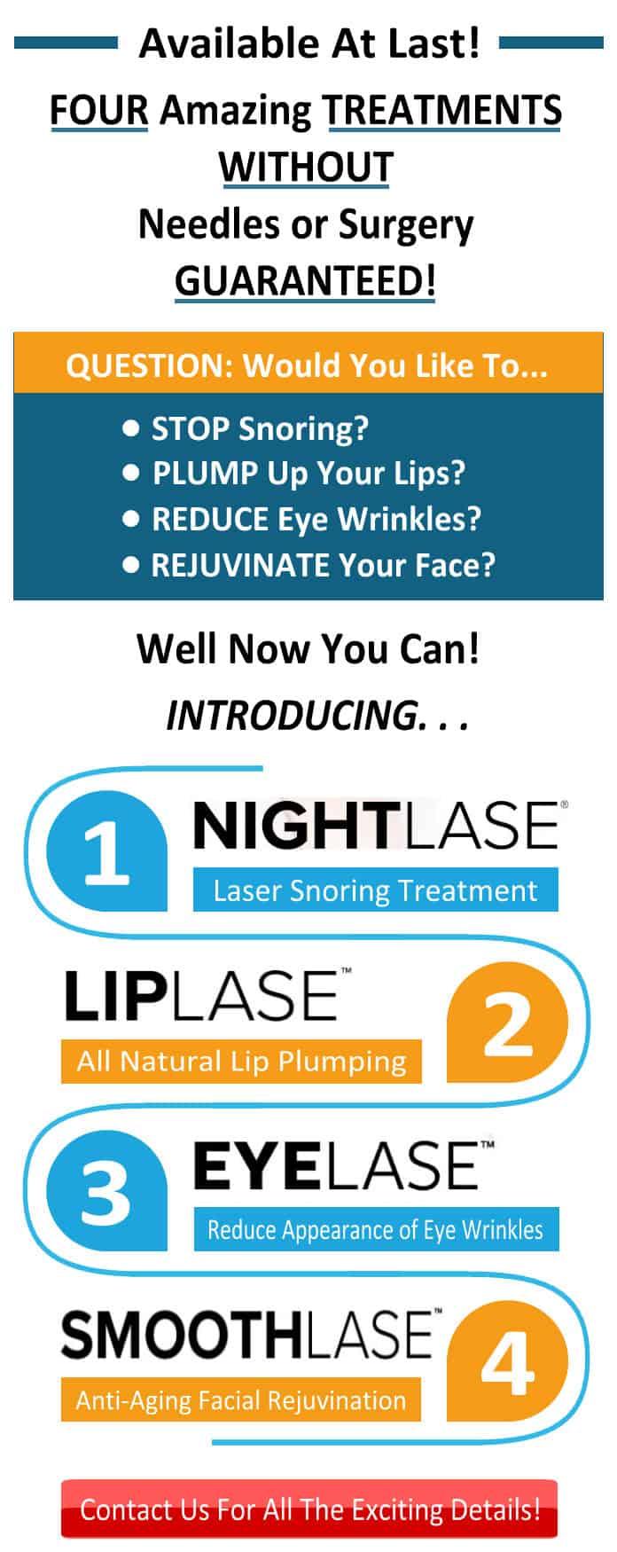 NightLase | LipLase | EyeLase | SmoothLase | SCDentalGroup.com | Dr. Steven Chang